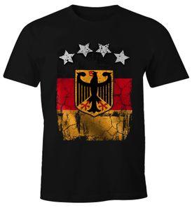 Cooles Herren T-Shirt Deutschland Fan-Shirt WM 2018 Fußball Weltmeisterschaft Moonworks®  5XL