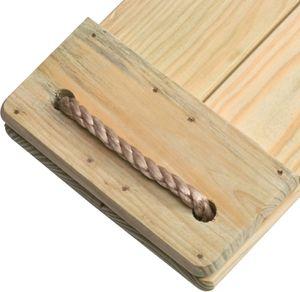 Schaukelsitz aus imprägniertem Holz mit verstellbaren Seilen