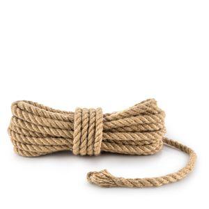 Juteseil Juteschnur gedreht ø 14 mm 10 m - Bastelschnur Kordel Natur Dickes Seil für Maritime Dekoration Jutekordel Tau