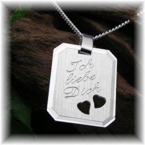 Silber Kette Halskette Ich liebe Dich