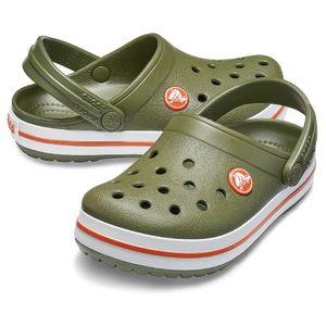 crocs Crocband Clog Kids Army Grün / Burnt Sienna Croslite Größe: 29/30 Normal