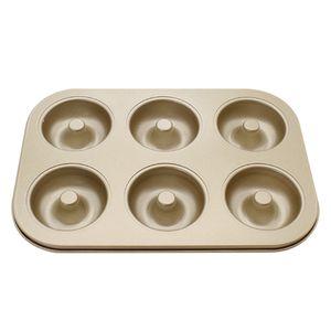 1PC 6 Cavity Antihaft-Donut-Backgeschirr Backform aus Kohlenstoffstahl in Lebensmittelqualitaet Kueche DIY Donut-Backblech