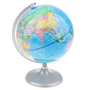 20cm Metallsockel geographische Weltkugel Karte pädagogisches Lernspielzeug - c