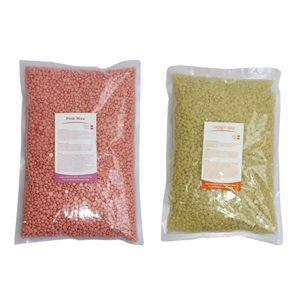 1000g Hard Wax Beans Pellet Waxing Körper Haarentfernung Wachs Bohnen Heißwachs, Bestandteil: Honig, Rose