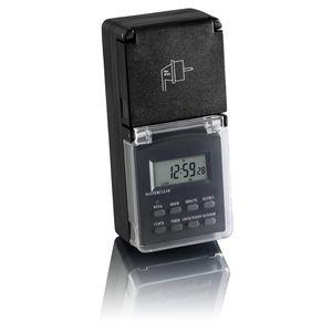 Zeitschaltuhr digital programmierbar für Steckdose Außen Wochentimer 24h SEBSON