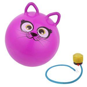 Kinder Hüpfball Hüpfball Sprungball Skippy Katze Weltraum-Hüpfer 45cm Lila Größe (Ø) Ca. 45 cm