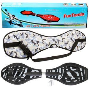 FunTomia® mit LED-Rollen - 2842 - Design Zebra - Waveboard ORIGINAL