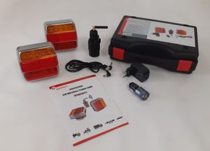 LED-Funk-Magnetleuchtensatz / Anhängerbeleuchtung kabellos funkgesteuert; nicht StVZO zugelassen!