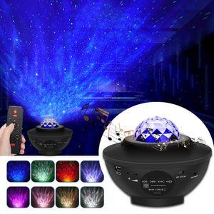 Musik Lautsprecher LED Projektor Sternenhimmel Lampe Wasserwellen-Welleneffekt