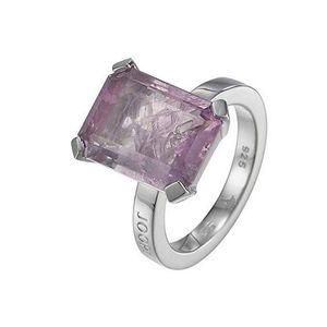 Joop JPRG90496B Damen Ring Silber mit Amethyst lila Größe 55 (17,5 mm)
