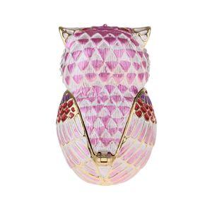 Mini Owl Trinket Box Klappbar Für Mädchen Ringhalter Handgefertigte Ringhalter Für Hochzeitsfeier Dekoration Farbe Rosa