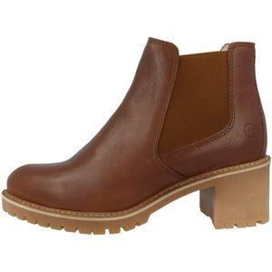 Tamaris Damen Chelsea Boots Leder Stiefeletten 1-25447-25, Größe:39 EU, Farbe:Braun