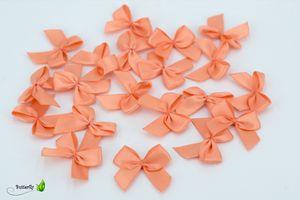 Satinschleifen 25mm, 20 Stück, Farbe:apricot - lachs 720