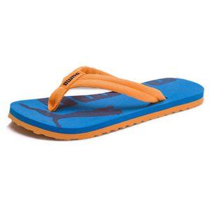 PUMA Epic Flip v2 Jr Kinder Sandale Zehentrenner Orange-Indigoblau Schuhe, Größe:38