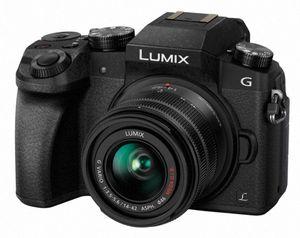 Panasonic Lumix DMC-G7KEF + H-FS1442A, 16 MP, 4592 x 3448 Pixel, Live MOS, 4K Ultra HD, Touchscreen, Schwarz
