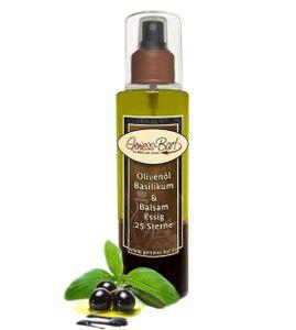 Sprühflasche Salatdressing 0,26L Olivenöl Basilikum & 25 Sterne Balsam Essig Spray in  Pumpspray Vinaigrette für unterwegs / Büro / Camping
