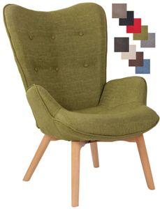 CLP Lounger Durham Stoff mit Buchenholz Gestell, Farbe:grün