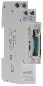 ChiliTec analoge Tages-Zeitschaltuhr für Schalttafel-Einbau, 230V, max. 3500W