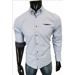 Megaman Herren Langarmhemd Freizeit Hemd Business Stretch-Hemd Elegant Kragen Größe in 2XL Hellblau