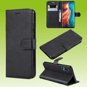 Für Huawei P Smart 2021 Handy Tasche Wallet Premium Schwarz Schutz Hülle Case Cover Etuis Neu Zubehör
