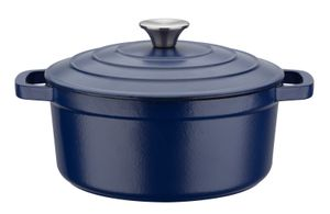 GSW Gusseisen Kochtopf Blue Magic 24 cm / 3,8 Ltr., 717267, Gusseisenca. 3,8 L