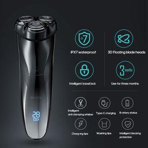 ENCHEN BlackStone3 Shaver Elektro Intelligent Charging Type Tragbare Rasierapparate mit drei Messerkoe pfen fuer Maenner