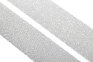 dalipo - Klettband  zum annähen, aufnähen - 20 mm Breite - weiß