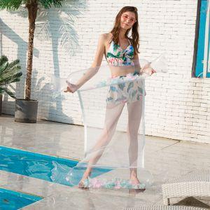 Wasser Hängematte Schwimmbett, neues aufblasbares Bett Bequemes Schwimmbad Luftbett mit Feder, ganze Stücke Faltbare Schwimmbecken Hängematte für Erwachsene