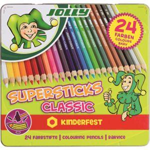 JOLLY, Farbstifte, Superstick CLASSIC, 24er Etui, 3000
