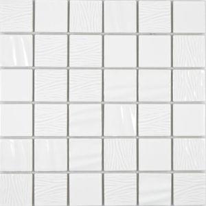 Keramik Mosaik weiss Mosaikfliese 3D Optik Wand Fliesenspiegel Küche Bad MOS14-0101_f