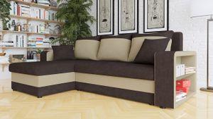 Mirjan24 Ecksofa Fano Design Eckcouch Couch mit Zwei Bettkasten und Schlaffunktion L-Form Sofa Seite Universal vom Hersteller (Alova 68 + Alova 07)