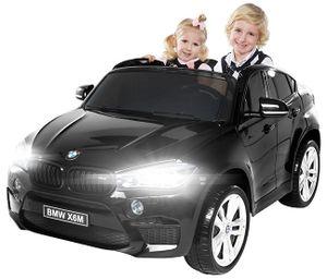 Kinder Elektroauto BMW X6M XXL SUV Zweisitzer Kinderauto Elektrofahrzeug Elektro (Schwarz)