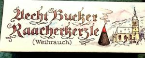 1 Packung Bucker Räucherkerzen / Bockauer Räucherkerzen 24 Stck