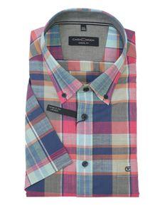 Casa Moda Casual Fit Kurzarm Hemd in Übergrößen, kariert, Größe:3XL