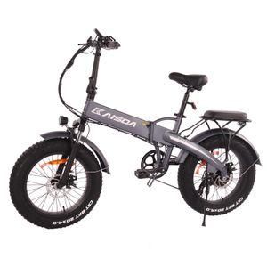 "KAISDA K2 500W 48V 10AH Faltbares Ebike Elektrofahrrad Mountainbike 20""Fetter Reifen E-Bike Leistung 30km/h Trekkingrad bis 120kg-Grau"