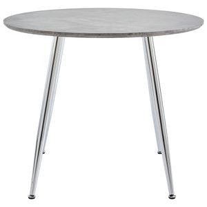 Esstisch Küchentisch Esszimmertisch Beton und Silbern 90x73,5 cm MDF
