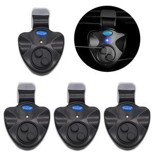 4-teiliger elektronischer Bissalarm mit akustischer LED-Anzeige fš¹r Fischbissalarme,,XS