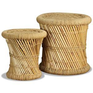 vidaXL Hocker 2 Stk. Bambus und Jute