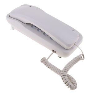 Wandtelefon, schnurgebundenes Großtastentelefon, Festnetztelefone für das Weiß wie beschrieben