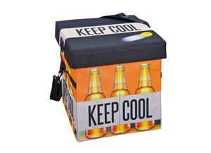 Kühlbox Faltkiste Fanbox II Bier schwarz