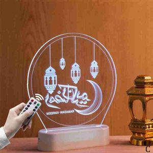 Eid Mubarak Ramadan Led Night Light Mubarak Lamp Muslim Islam Hanging Decoration