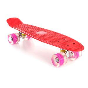 """22"""" LED Blinkendes Skateboard Funboard Miniboard Komplett Board Kinderboard"""