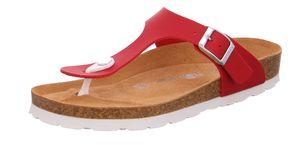 Rohde 5628 Alba Damen Zehentrenner Pantoletten Zehensteg Rot, Größe:39 EU, Farbe:Rot