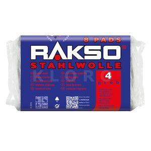 RAKSO® Stahlwolle Pads Sorte 4    8 Pads = 200 g   010480