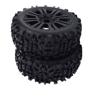 Gummireifen Felgen Für 1/8 Buggy Truggy Truck RC Cars, 120mm Durchmesser, High Grip Gummireifen Reifen   2er Pack