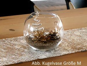 """Dekoset """"Golden Christmas"""" Kugelvase Größe M mit Dekoelementen"""
