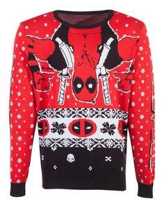 Marvel Deadpool Strickpullover Uni Weihnachten L