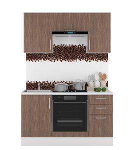 Küche Miniküche Küchenzeile KAMA 150, braun