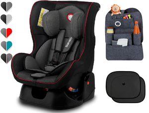 Lionelo Liam Autokindersitz in schwarz + Organizer + Sonnenschutz Autositz Kindersitz