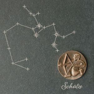 Wandrelief Sternzeichen Schütze Schiefer Swarovski 14,5cm